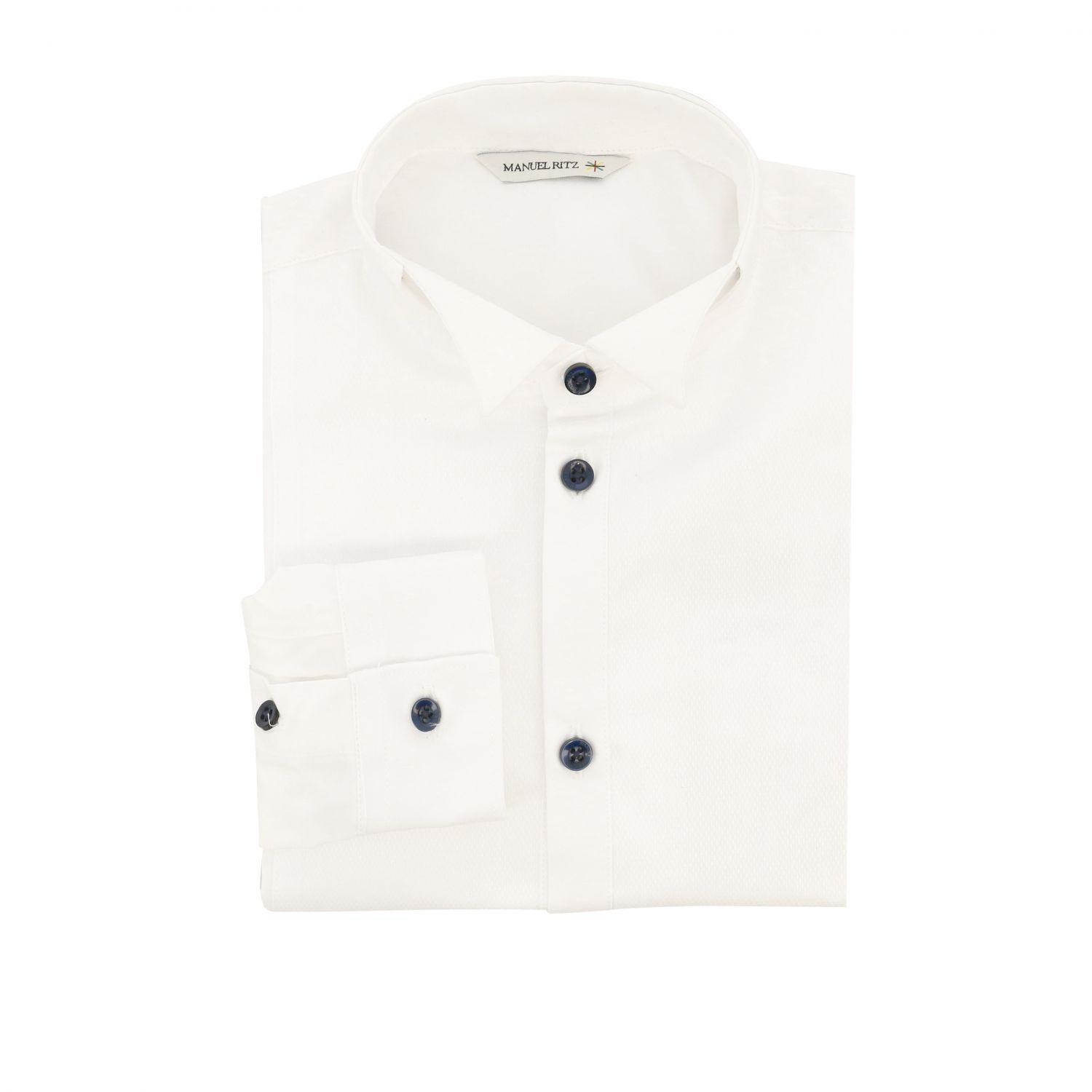 Classic Manuel Ritz shirt with wing collar white 1
