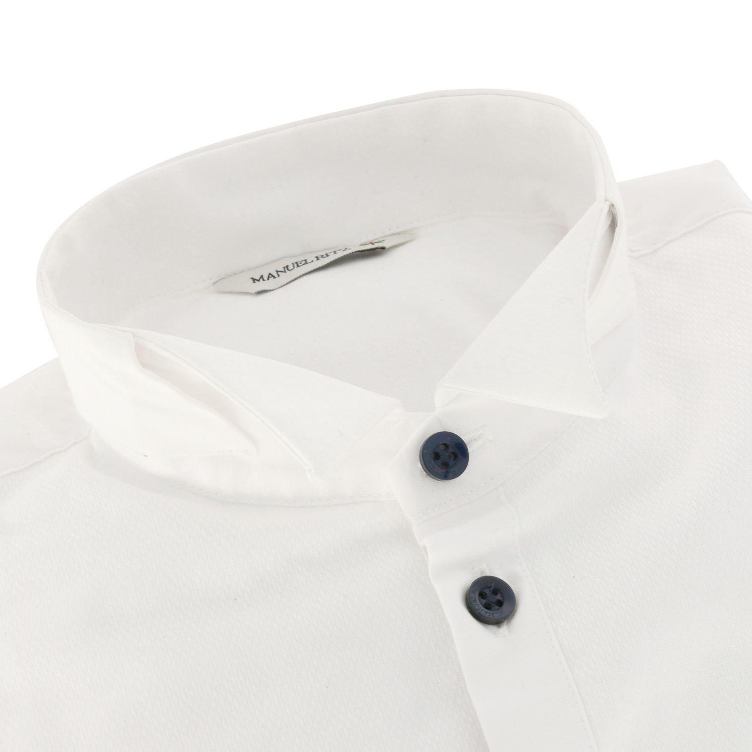 Classic Manuel Ritz shirt with wing collar white 2