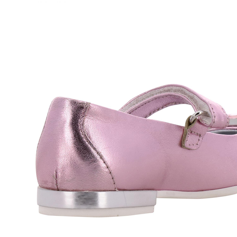 Monnalisa 水钻装饰金属感真皮芭蕾舞鞋 粉色 5