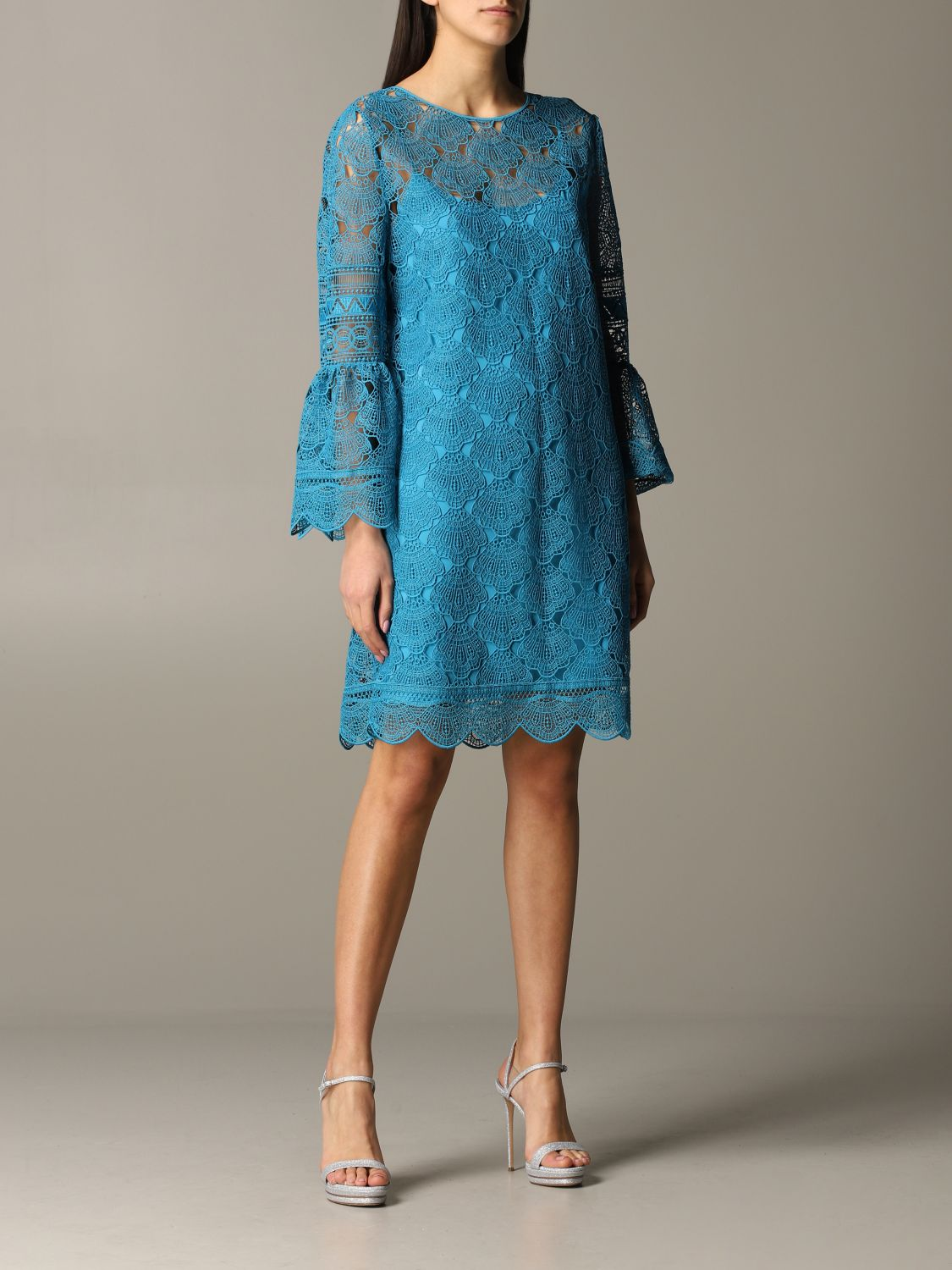 Dress Alberta Ferretti: Dress women Alberta Ferretti gnawed blue 1