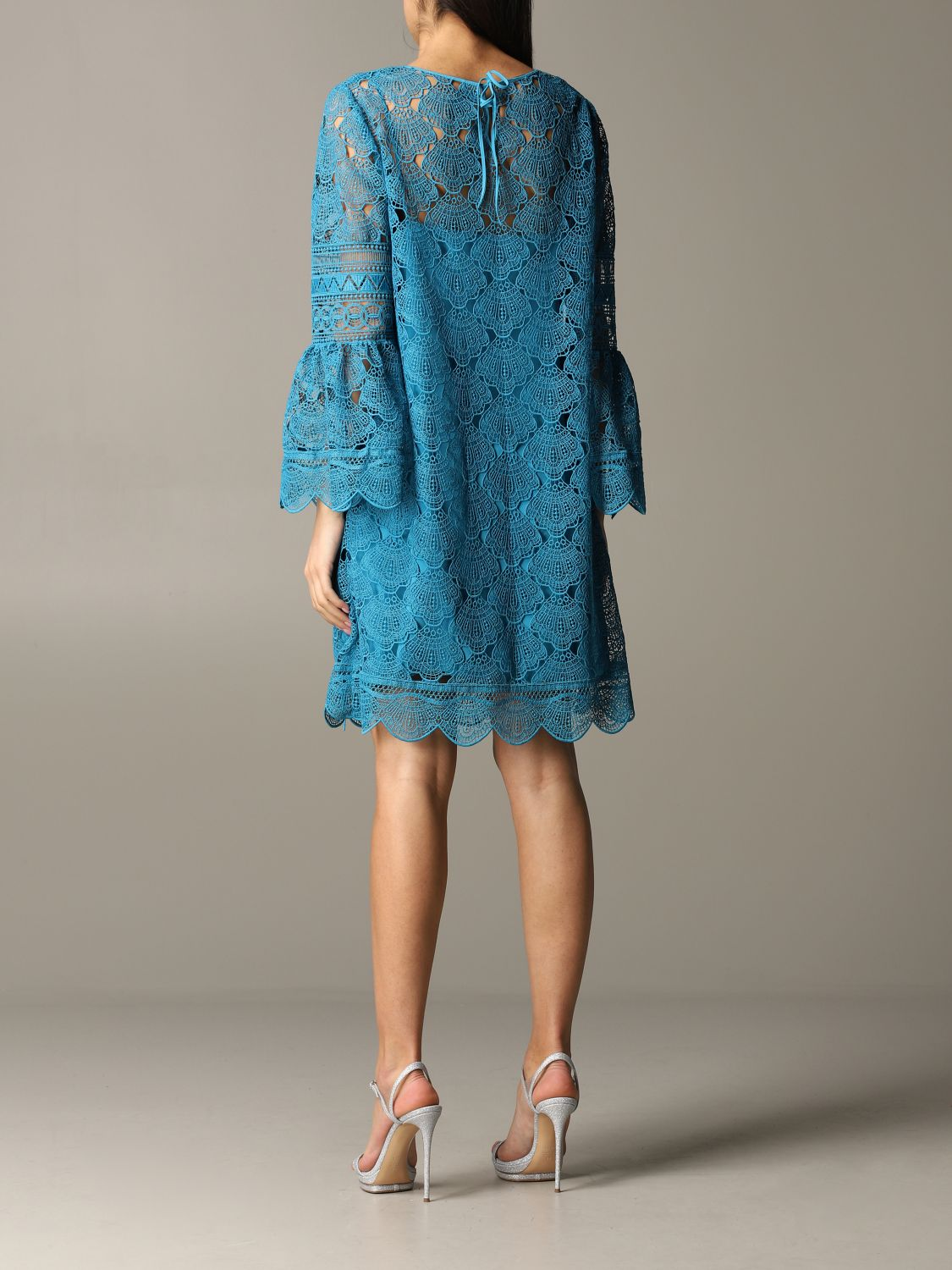 Dress Alberta Ferretti: Dress women Alberta Ferretti gnawed blue 2