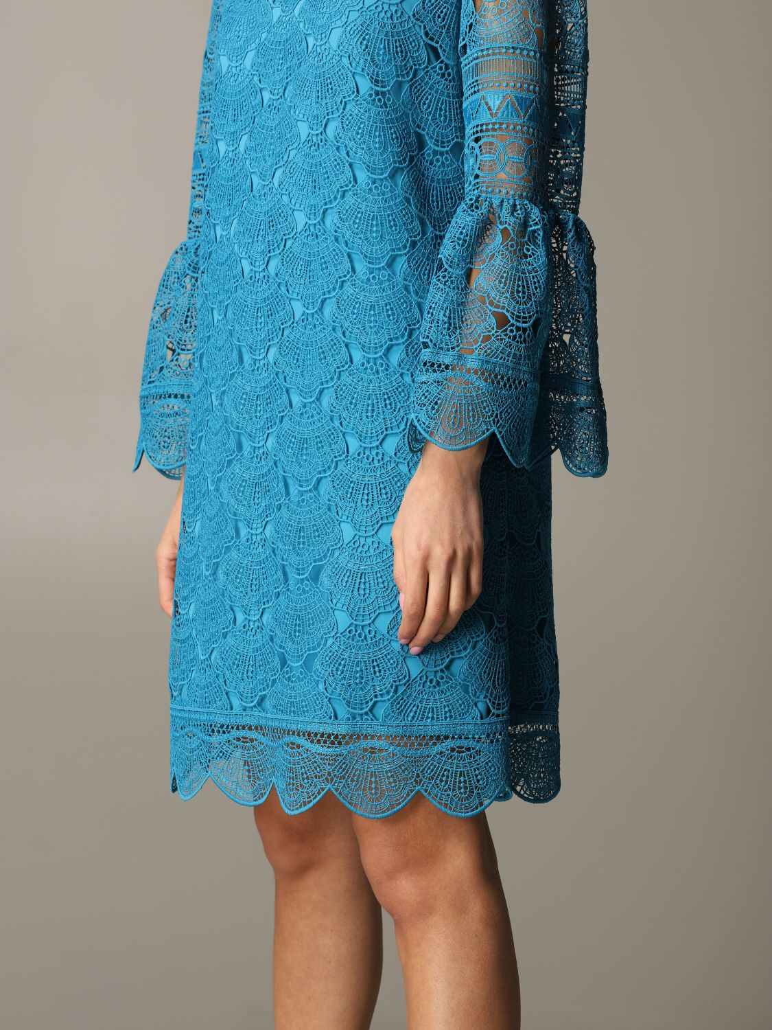 Dress Alberta Ferretti: Dress women Alberta Ferretti gnawed blue 4