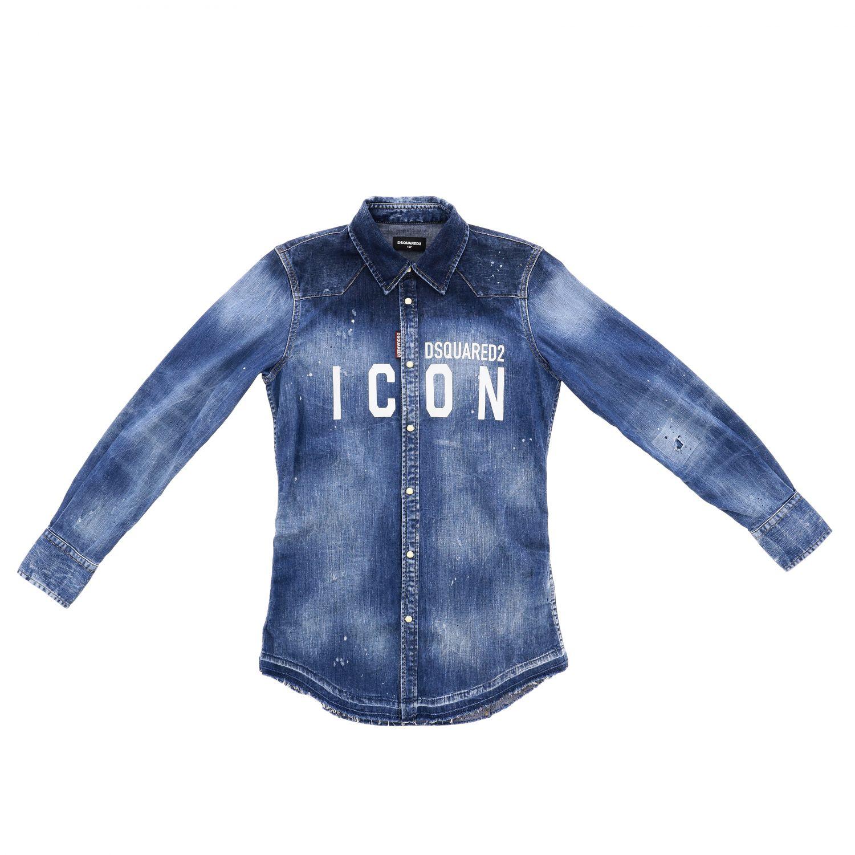 Shirt Dsquared2 Junior: Shirt kids Dsquared2 Junior blue 3