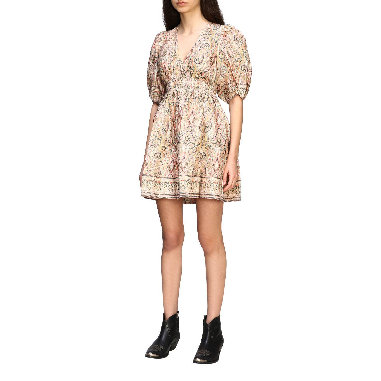 Robes Zimmermann: Mini robe Zimmermann à manches ballons multicolore 3