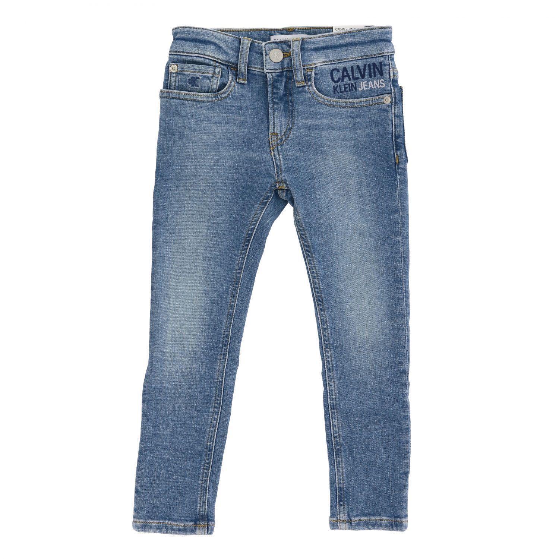 Calvin Klein jeans in used denim with logo denim 1