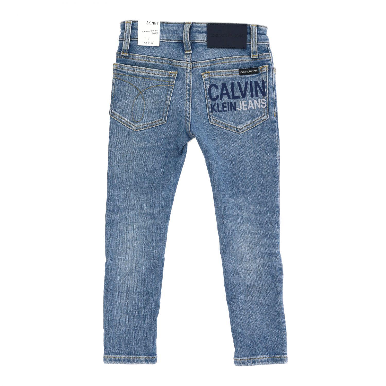 Calvin Klein jeans in used denim with logo denim 2