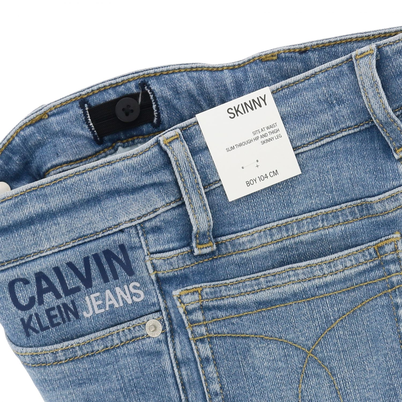 Calvin Klein jeans in used denim with logo denim 3