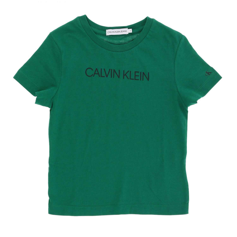 T-shirt Calvin Klein: T-shirt Calvin Klein a maniche corte con logo grigio 1