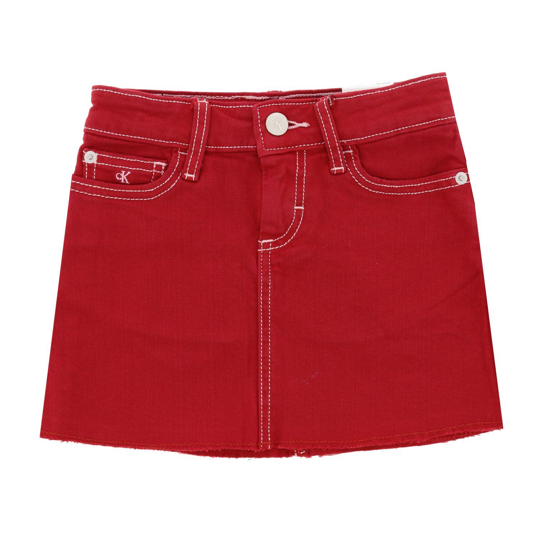 Skirt kids Calvin Klein red 1