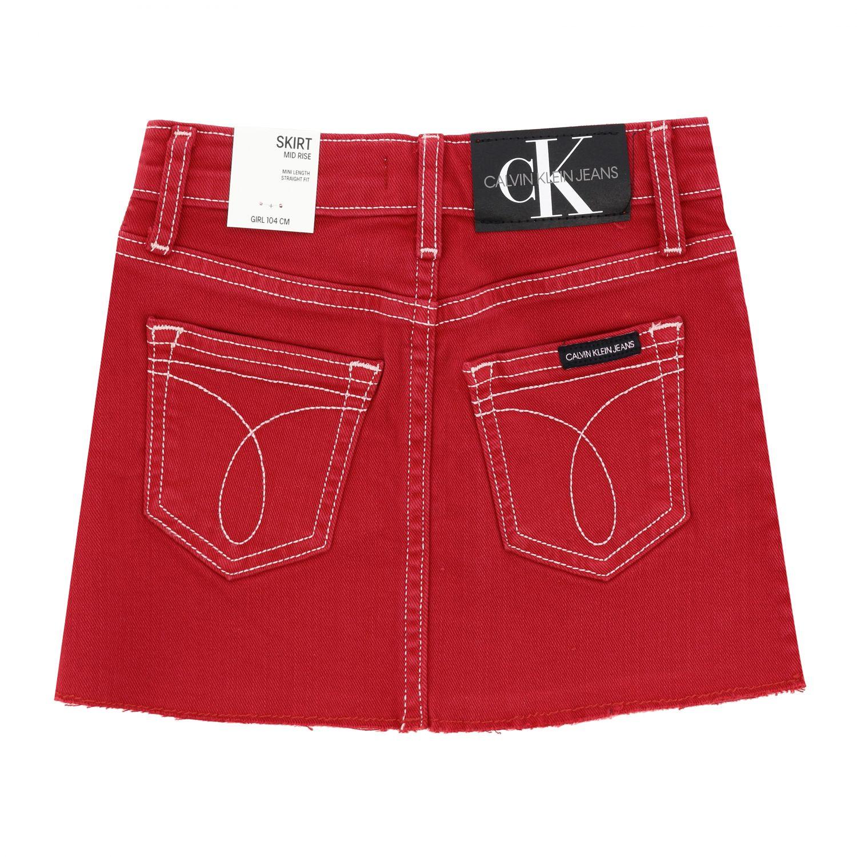 Skirt kids Calvin Klein red 2