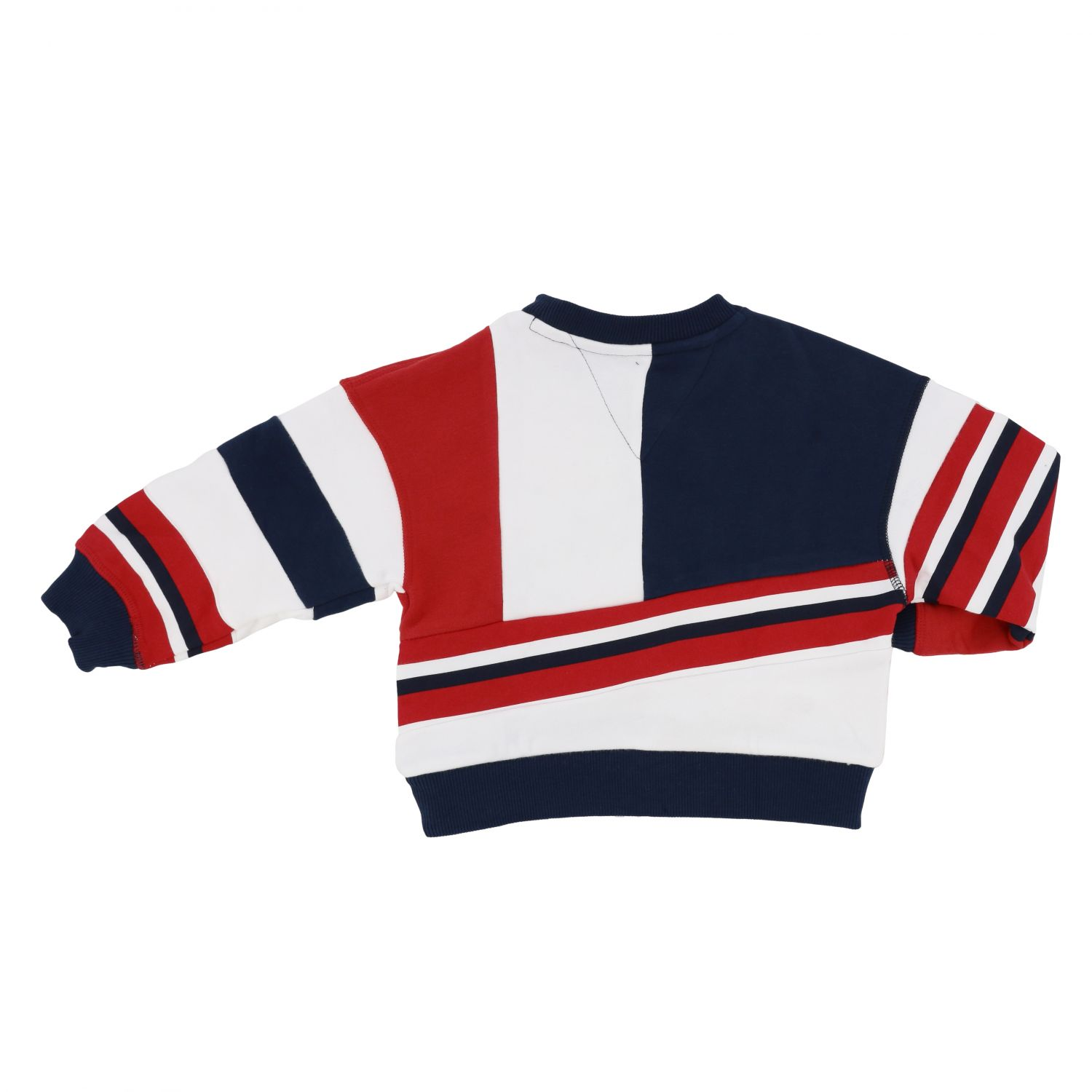 Tommy Hilfiger crewneck sweater in cotton with bands white 2