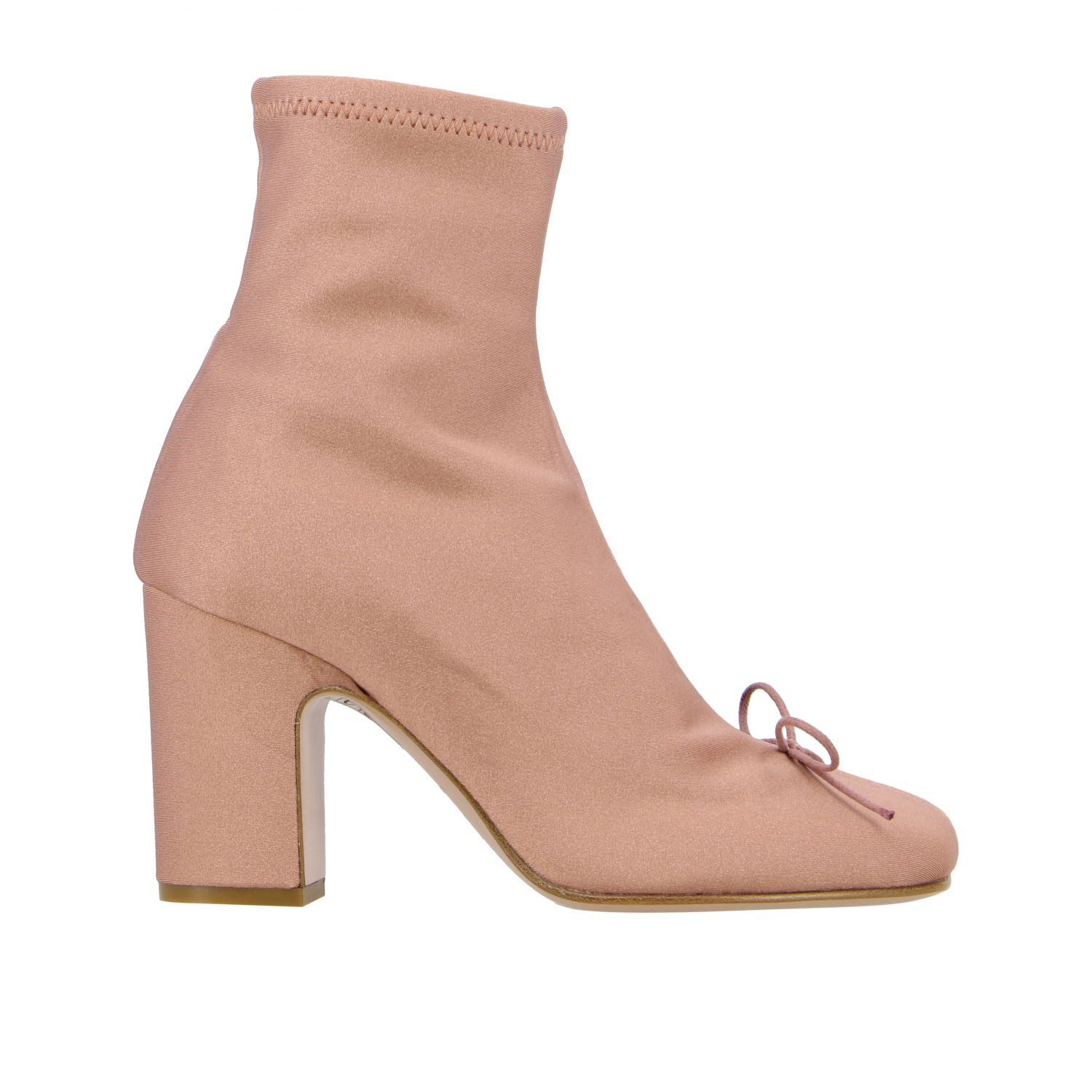 Flat ankle boots Red(V): Flat ankle boots women Red(v) pink 1