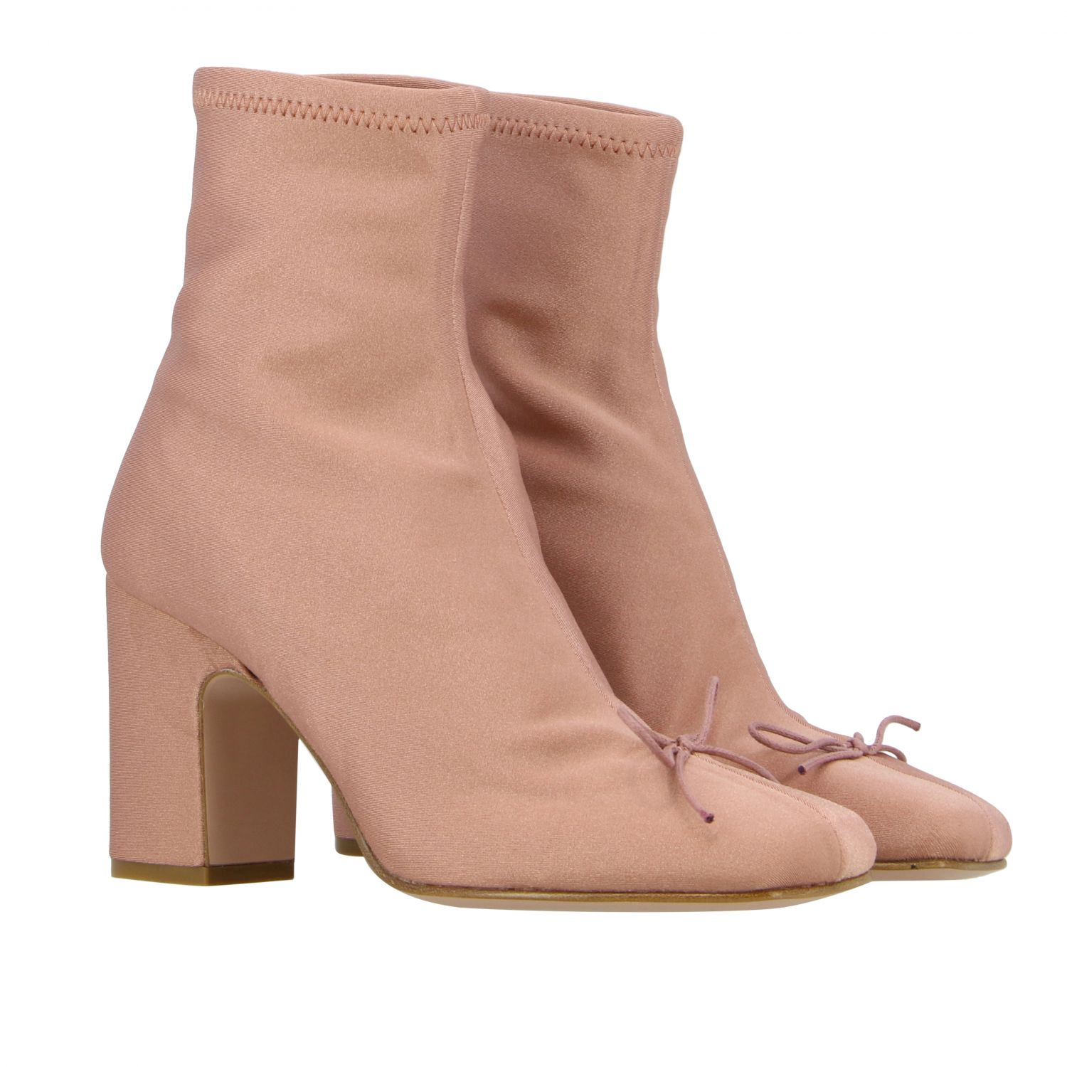 Flat ankle boots Red(V): Flat ankle boots women Red(v) pink 2