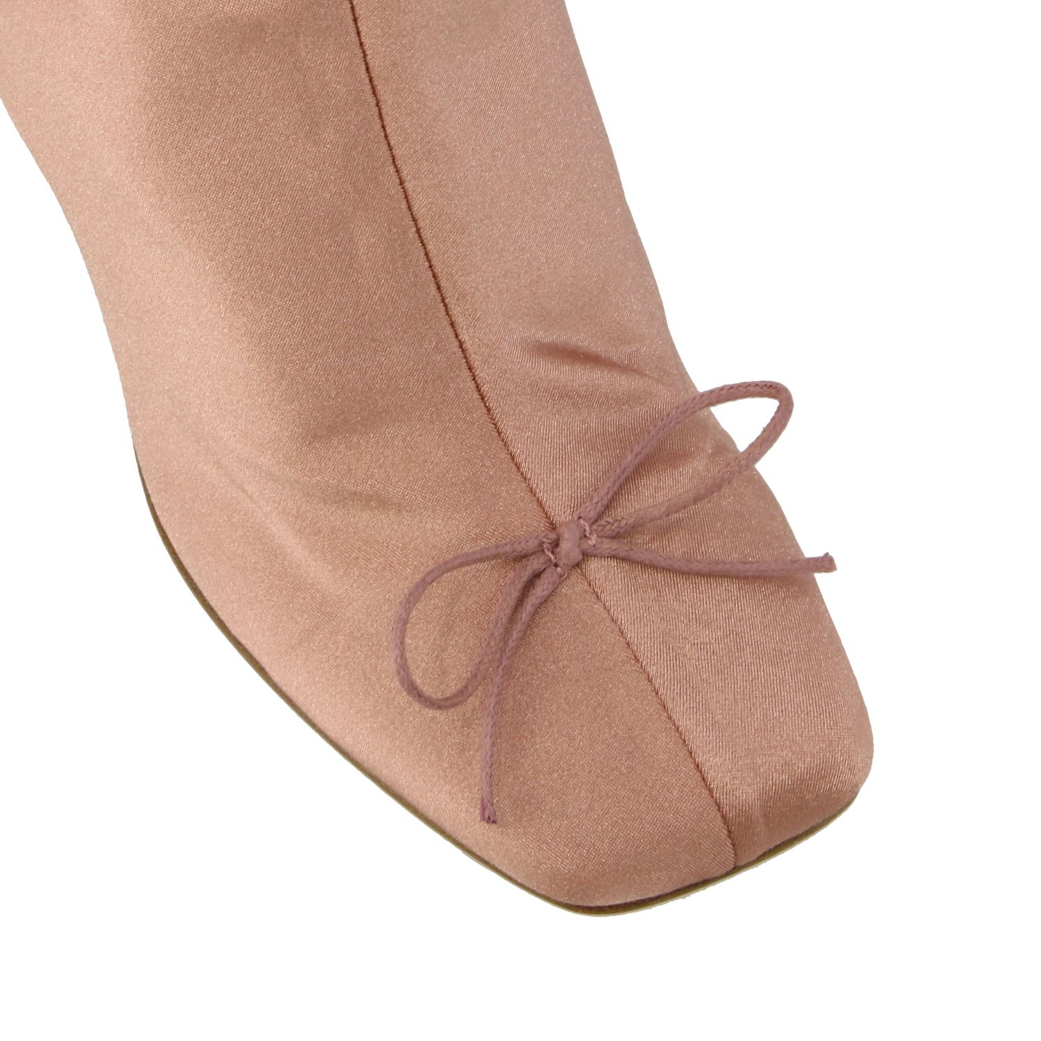 Flat ankle boots Red(V): Flat ankle boots women Red(v) pink 4