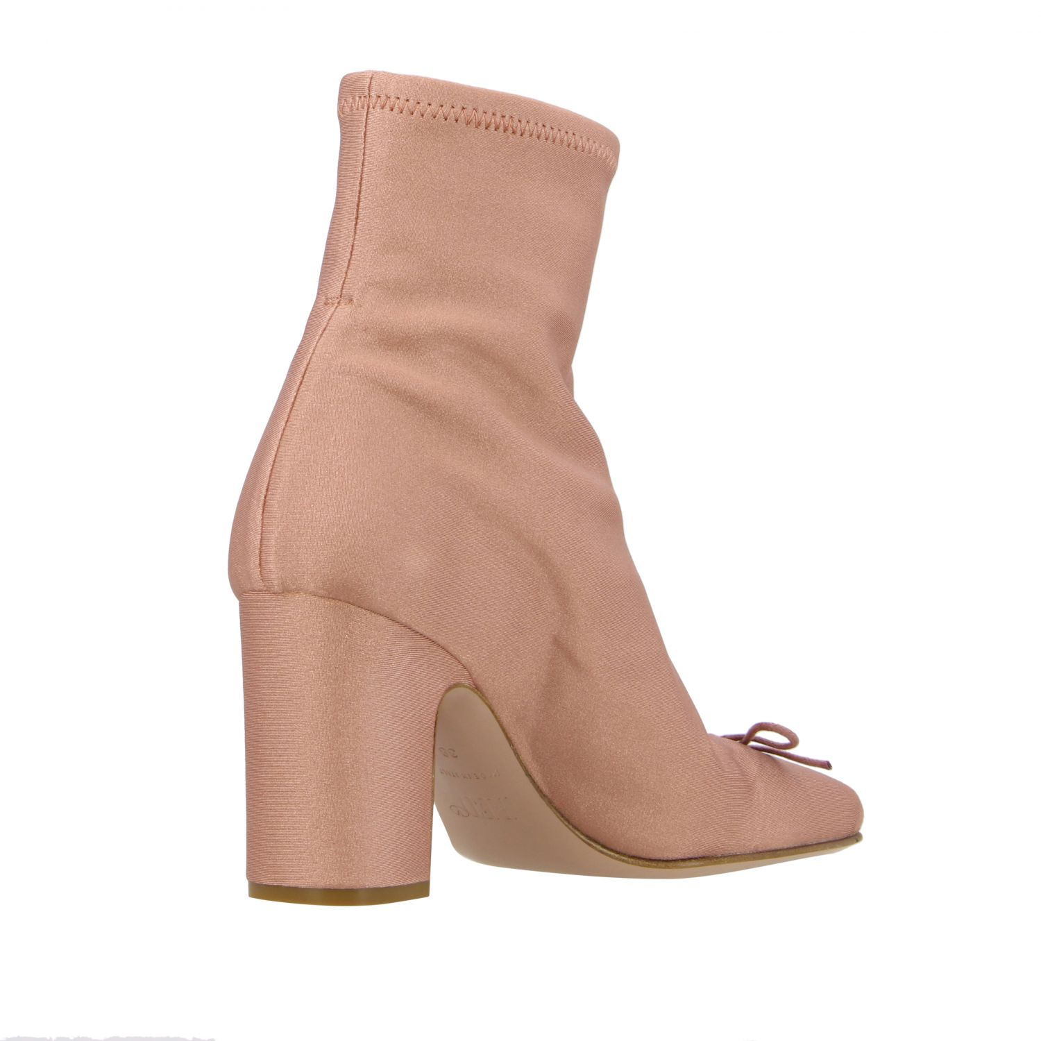 Flat ankle boots Red(V): Flat ankle boots women Red(v) pink 5