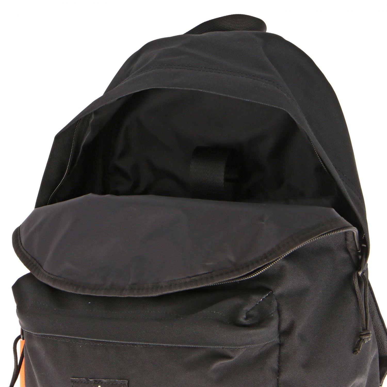 Umhänge Marcelo Burlon: Marcelo Burlon Rucksack aus zweifarbigem Nylon mit Federdruck schwarz 5