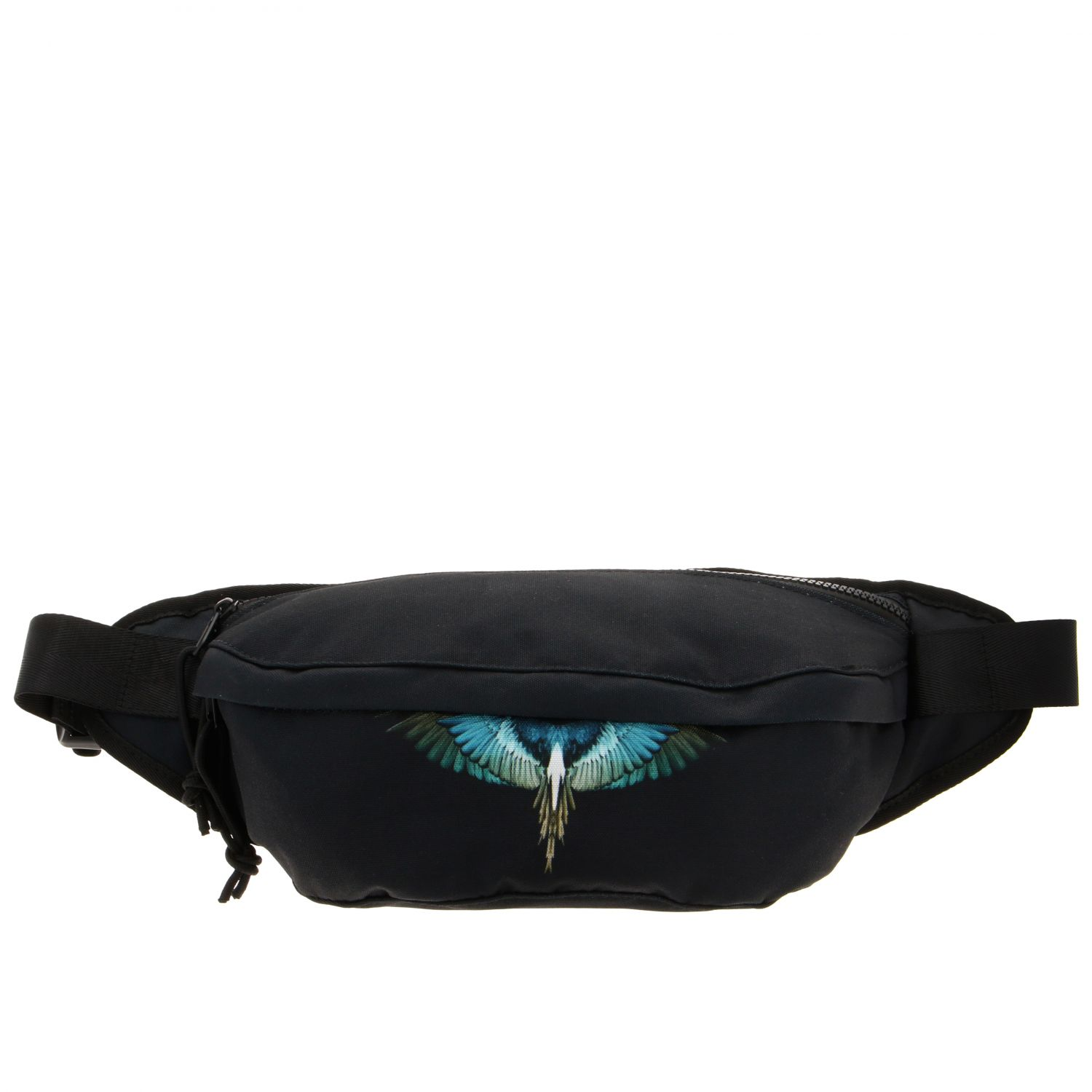 Marcelo Burlon fanny pack in nylon with feather print black 1