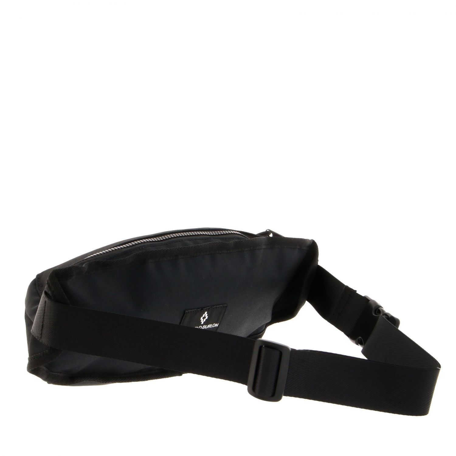 Marcelo Burlon fanny pack in nylon with feather print black 2
