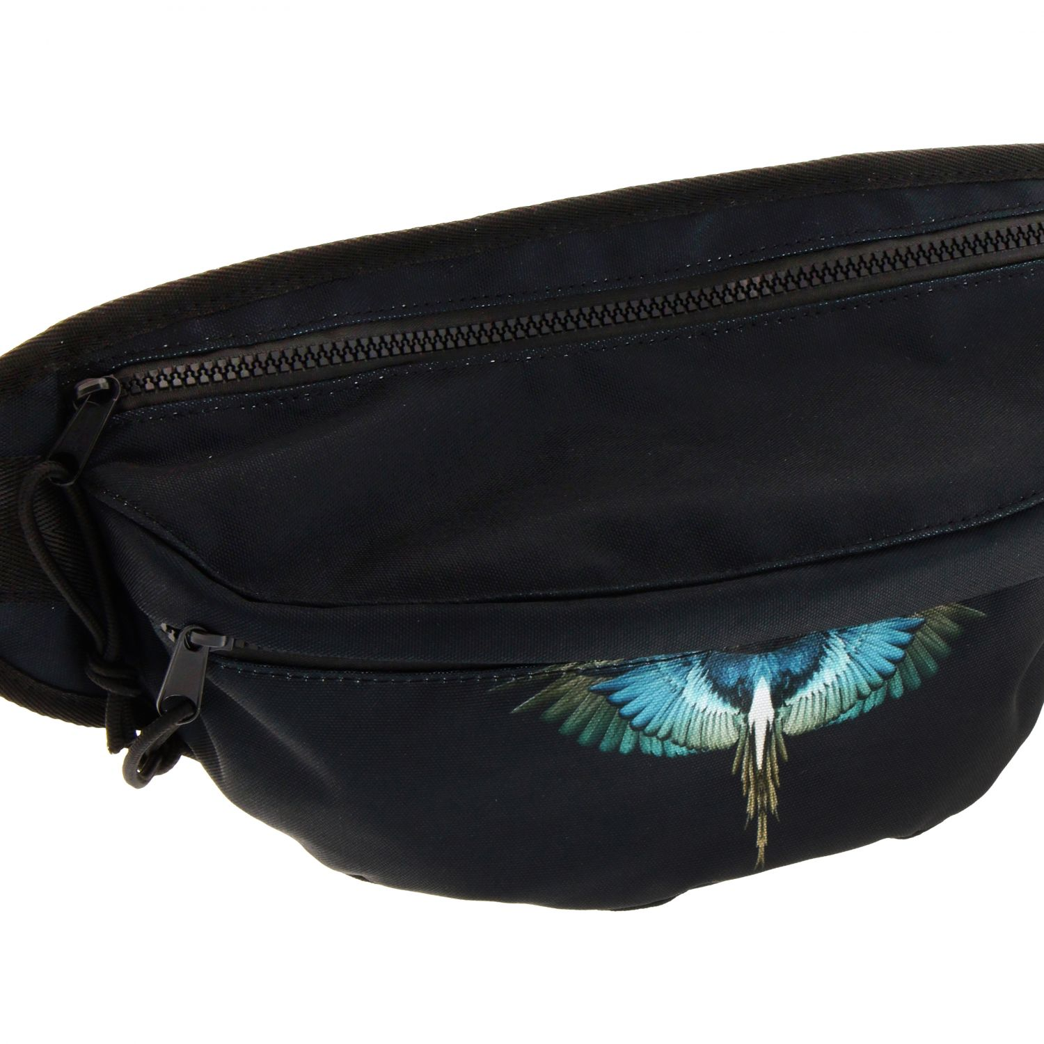 Marcelo Burlon fanny pack in nylon with feather print black 3