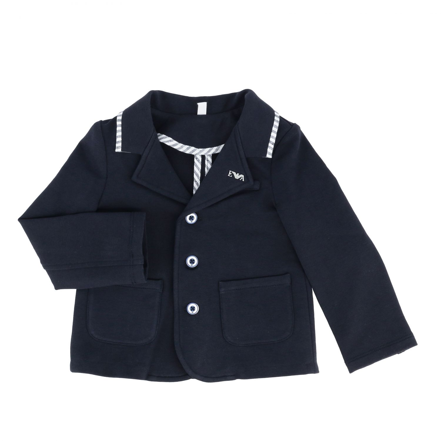 Emporio Armani single-breasted jacket blue 1