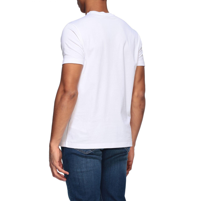 T-shirt Fay a girocollo con logo bianco 3