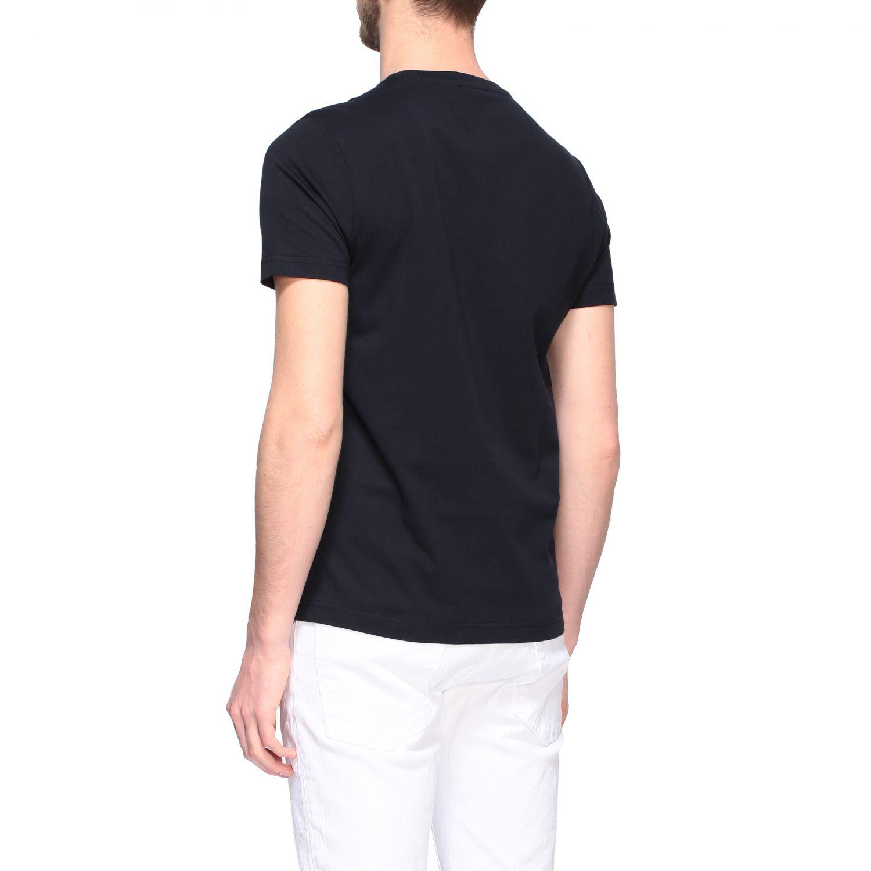 T-shirt Fay a girocollo con logo petrolio 3