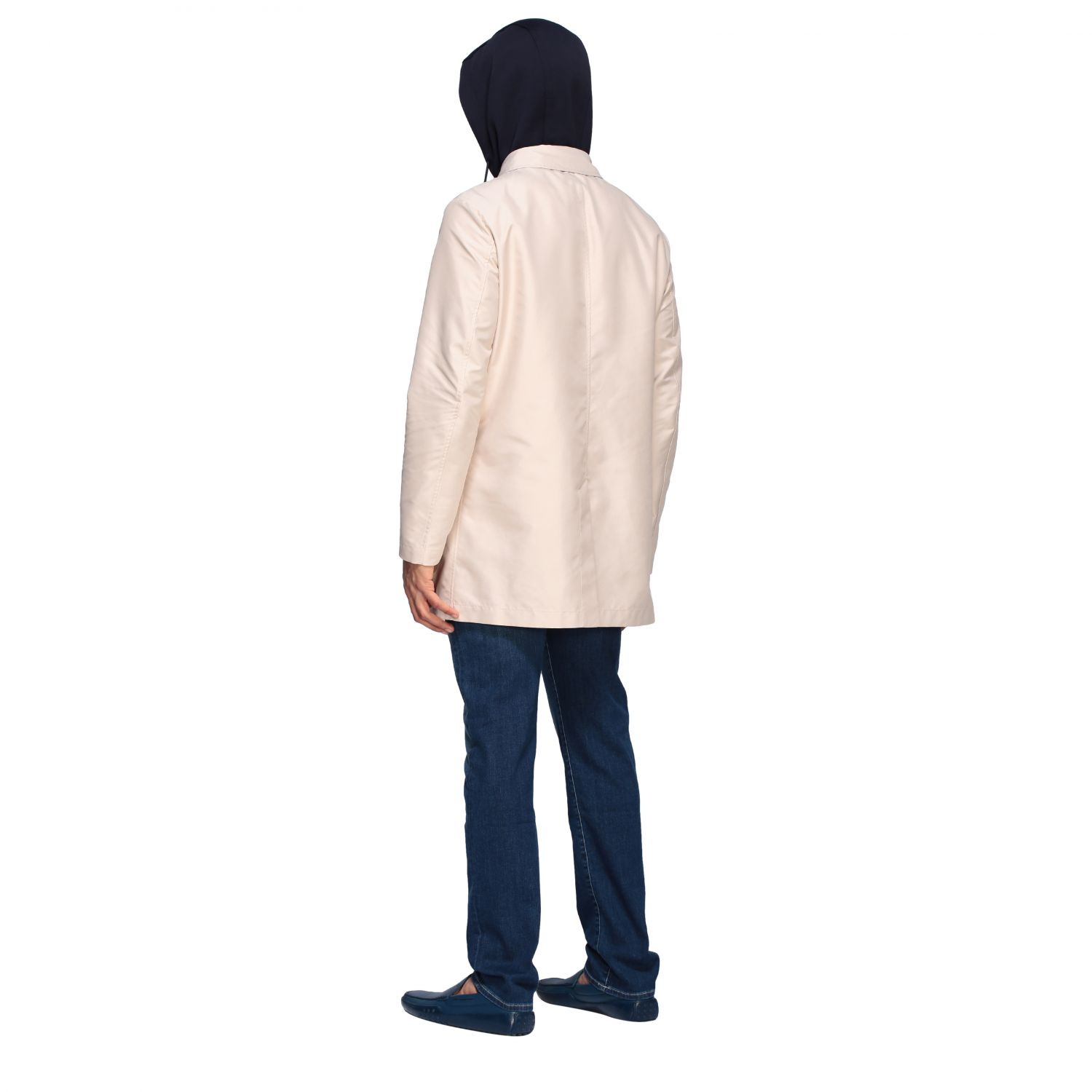 Trench Fay: Trench-coat droit à capuche Fay crème 2