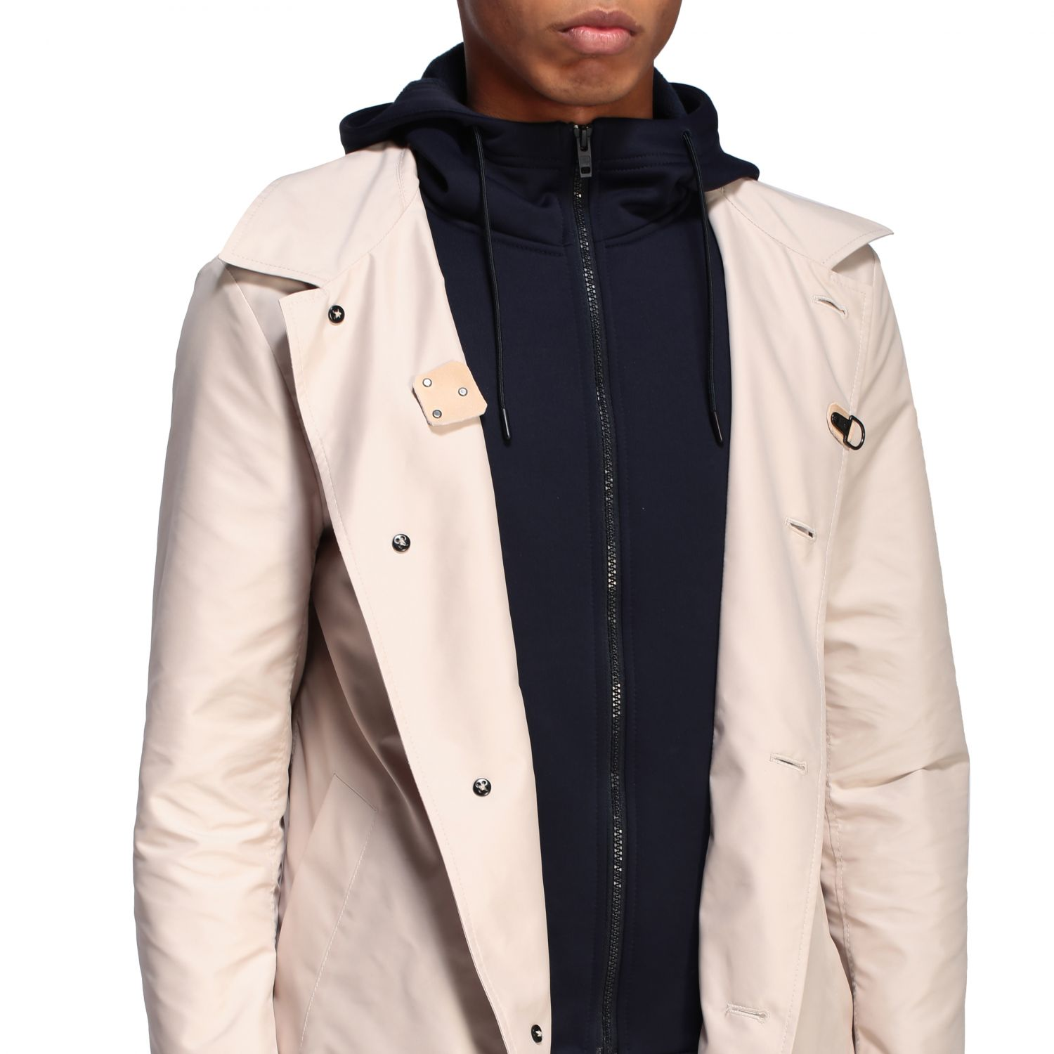 Trench Fay: Trench-coat droit à capuche Fay crème 4