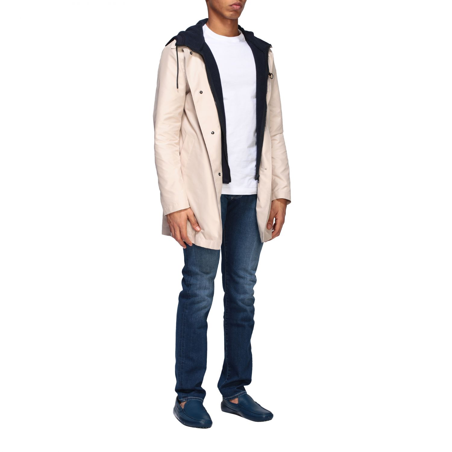 Trench Fay: Trench-coat droit à capuche Fay crème 5