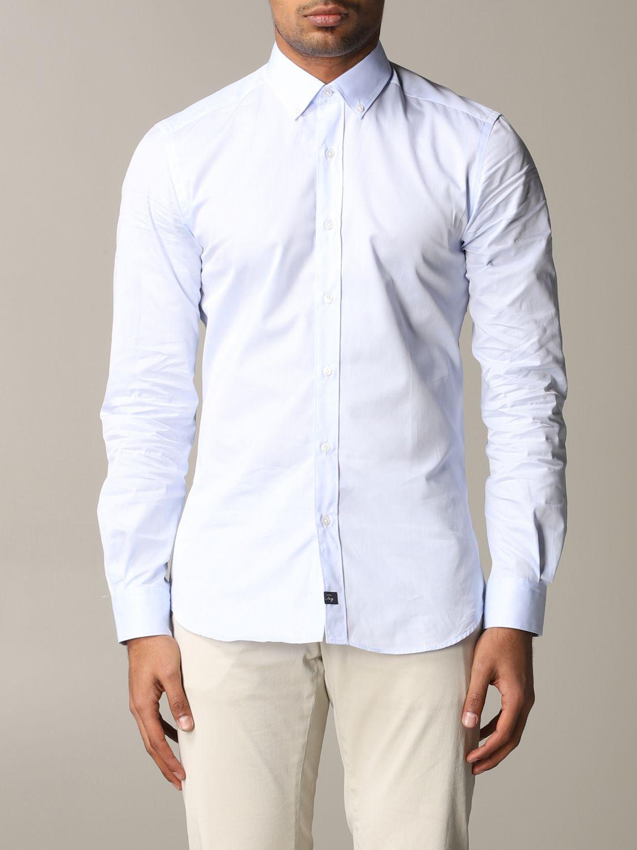 Shirt Fay: Shirt men Fay sky blue 1