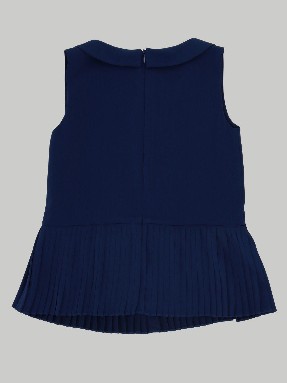 Блузка Twin Set: Блузка с рюшами к низу Детское Twin Set синий 2