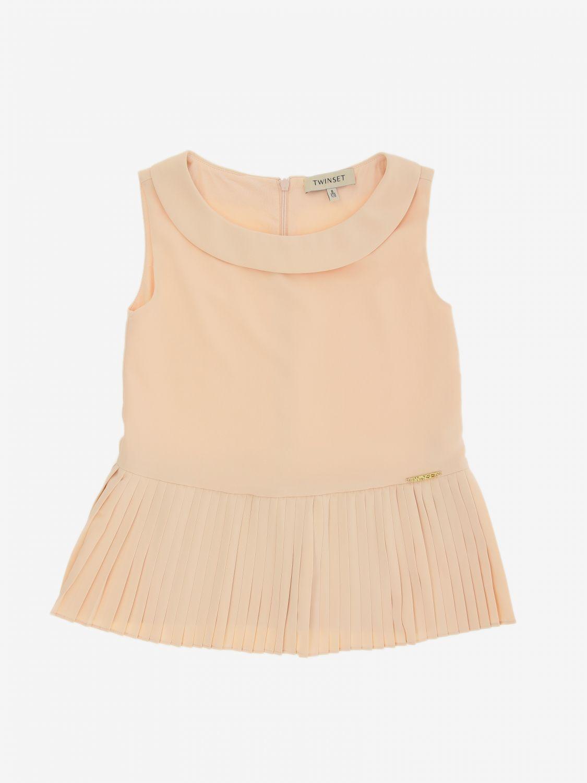 Блузка Twin Set: Блузка с рюшами к низу Детское Twin Set розовый 1