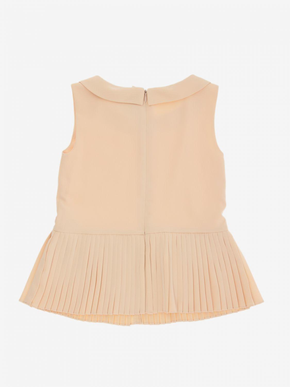 Блузка Twin Set: Блузка с рюшами к низу Детское Twin Set розовый 2
