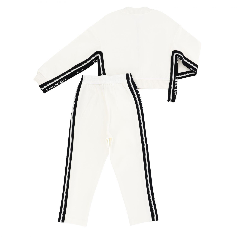 Completo felpa + pantalone Twin-set con bande logate nero 2