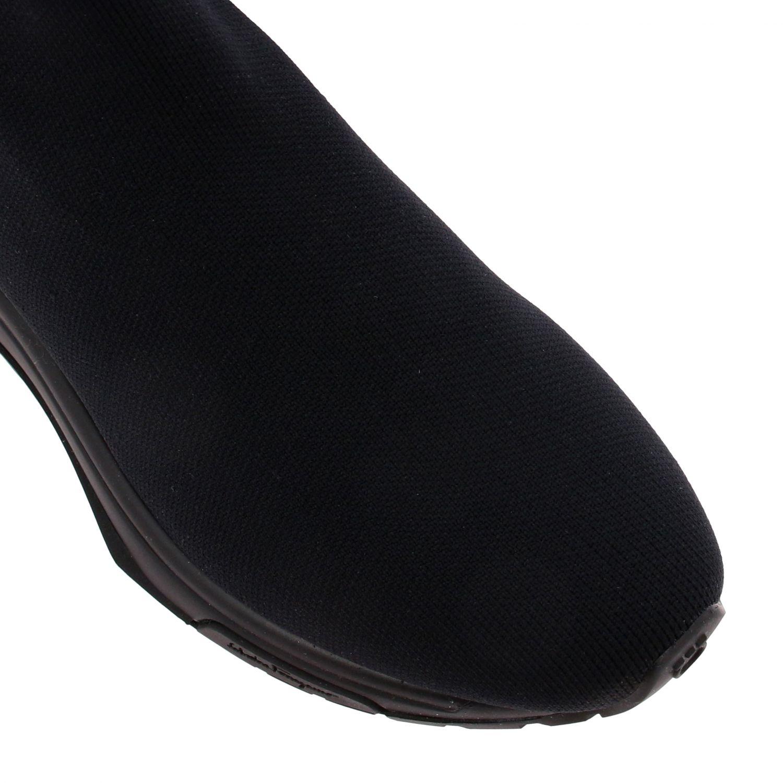Sneakers Salvatore Ferragamo in tessuto tecnico con gancio mediterraneo nero 4