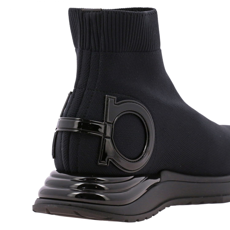 Sneakers Salvatore Ferragamo in tessuto tecnico con gancio mediterraneo nero 5