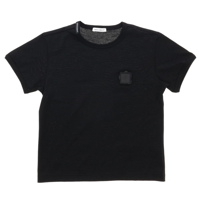T-shirt Dolce & Gabbana: Maglia Dolce & Gabbana a maniche corte con mini logo nero 1
