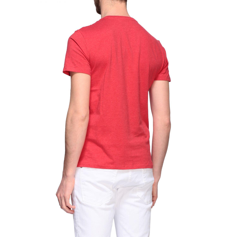 T-shirt Polo Ralph Lauren a girocollo con logo rosso 3