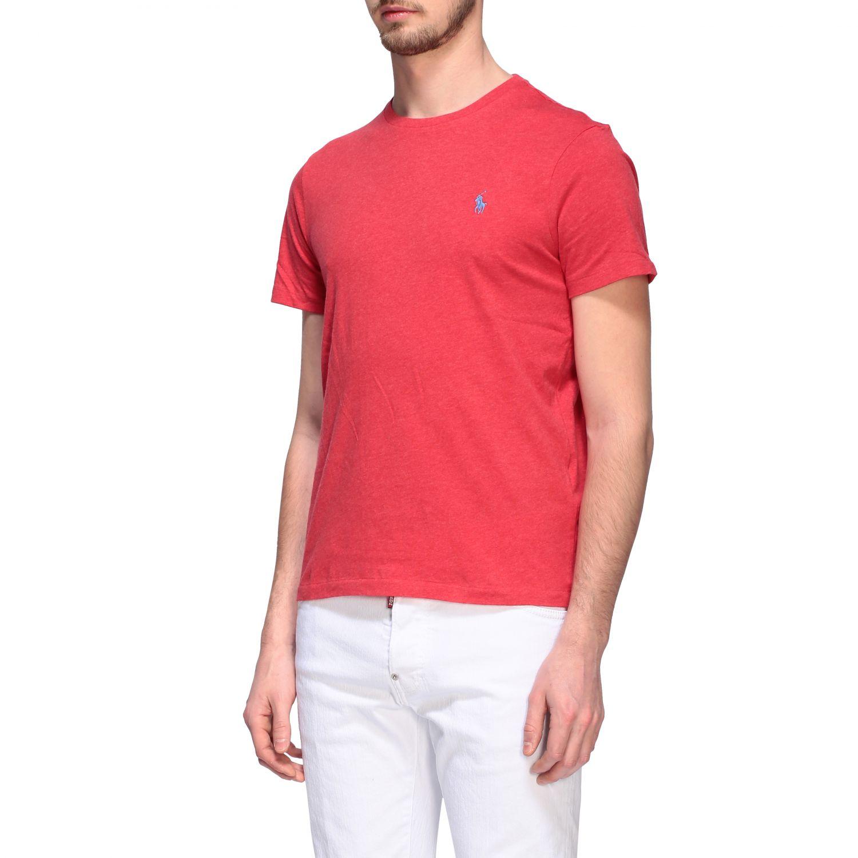 T-shirt Polo Ralph Lauren a girocollo con logo rosso 4