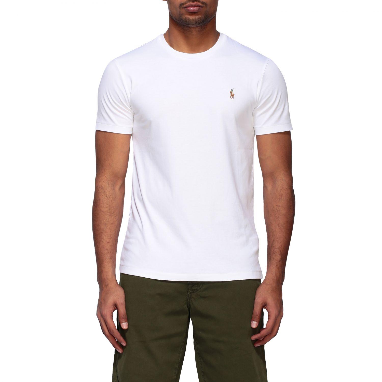 T-shirt Polo Ralph Lauren a girocollo con logo bianco 1