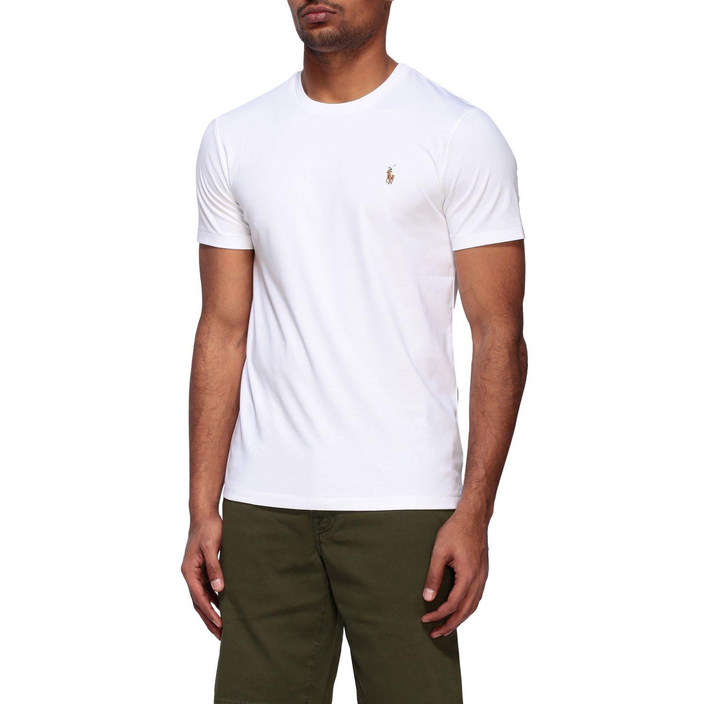 T-shirt Polo Ralph Lauren a girocollo con logo bianco 4
