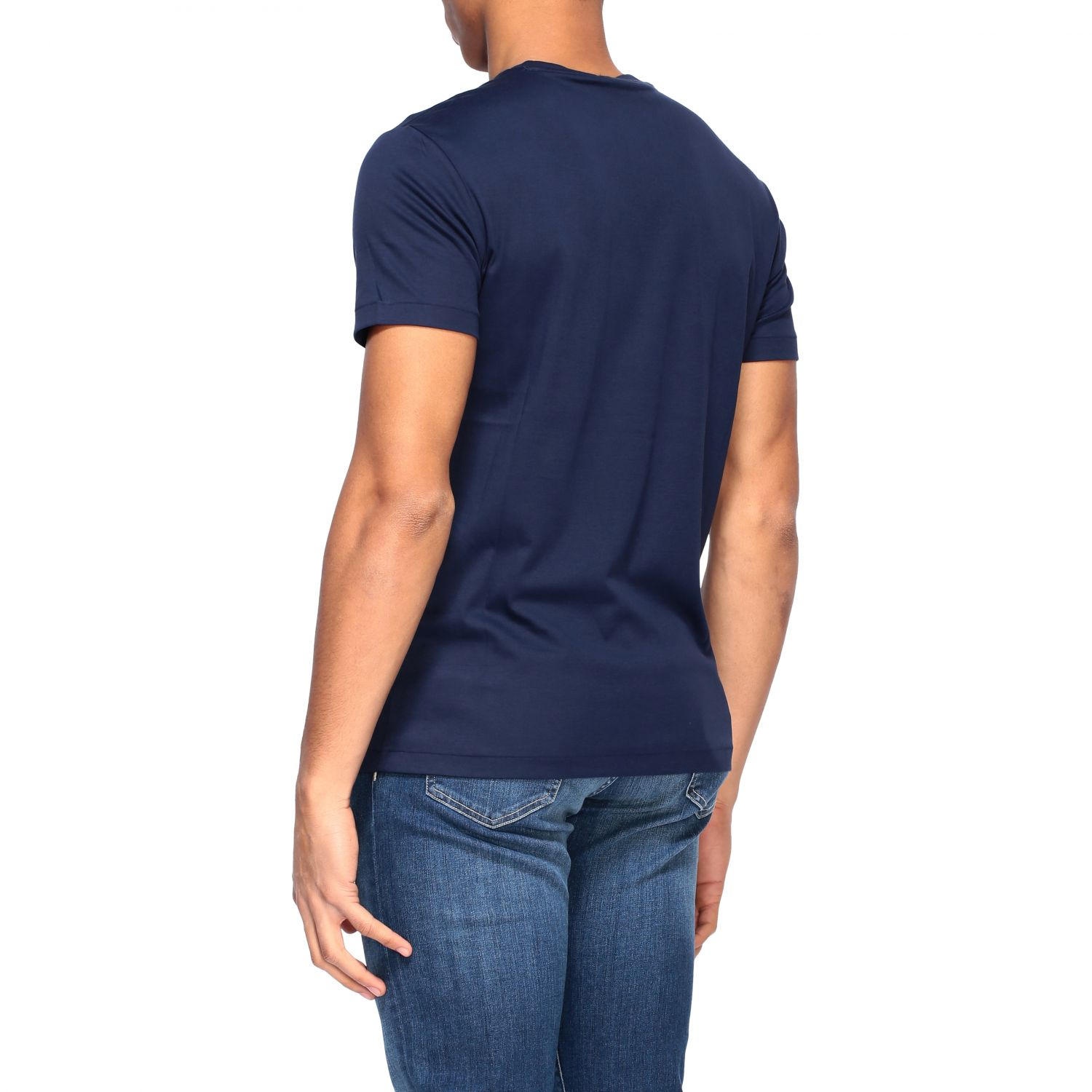 T-shirt Polo Ralph Lauren a girocollo con logo blue navy 3