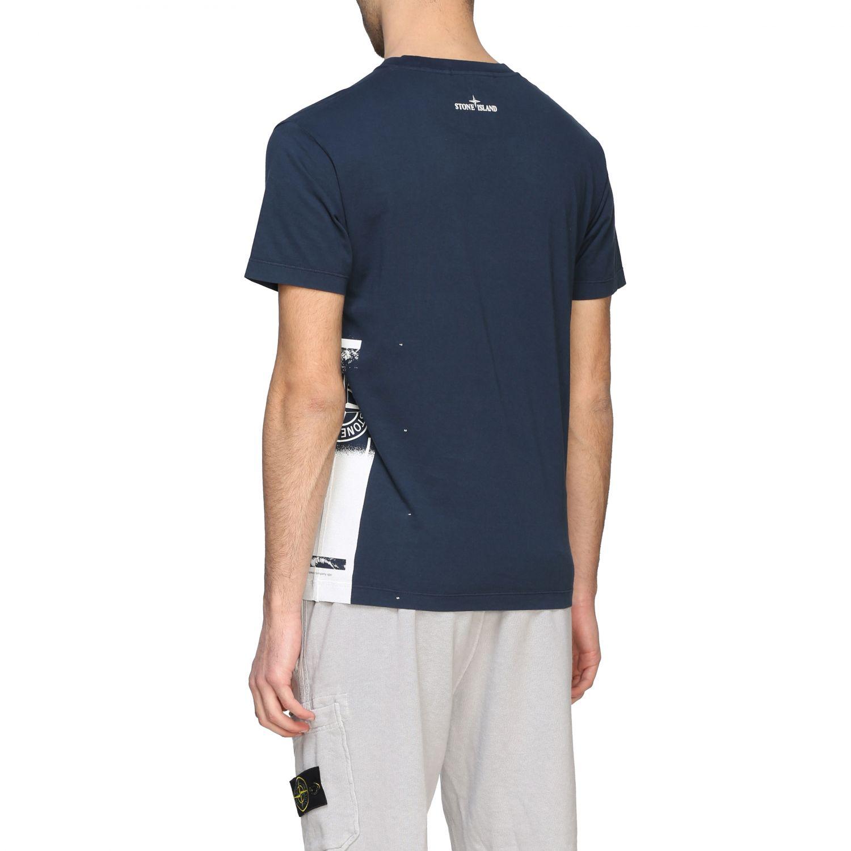 T-shirt Stone Island a maniche corte con logo avion 3