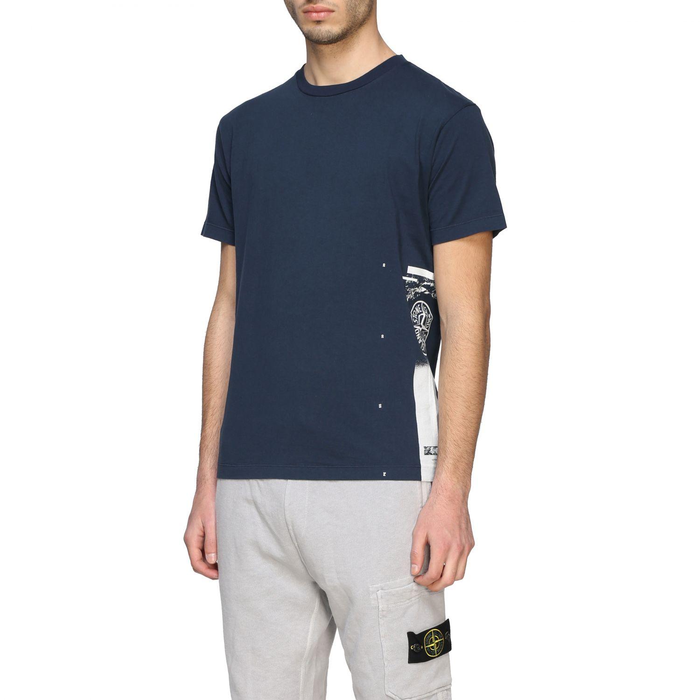T-shirt Stone Island a maniche corte con logo avion 4