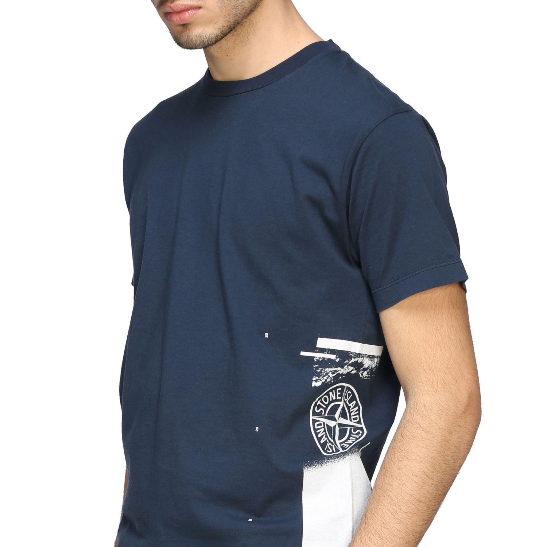 T-shirt Stone Island a maniche corte con logo avion 5