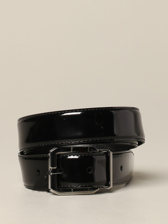 Belt Dolce & Gabbana: Dolce & Gabbana patent leather belt with classic buckle black 1