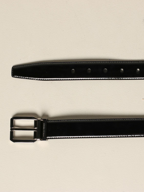 Belt Dolce & Gabbana: Dolce & Gabbana patent leather belt with classic buckle black 2