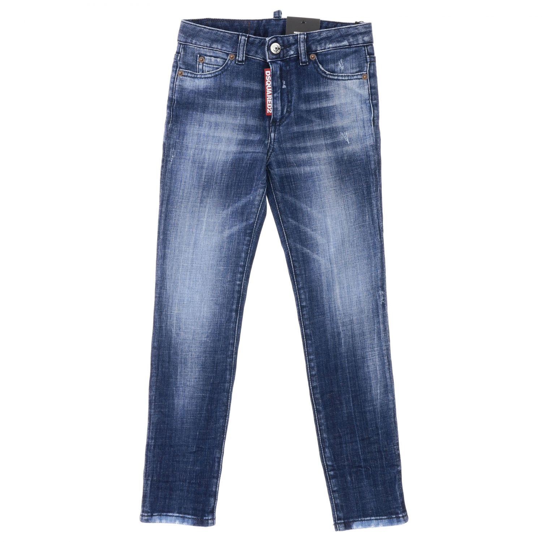 Jeans Dsquared2 Junior en denim usé bleu 1