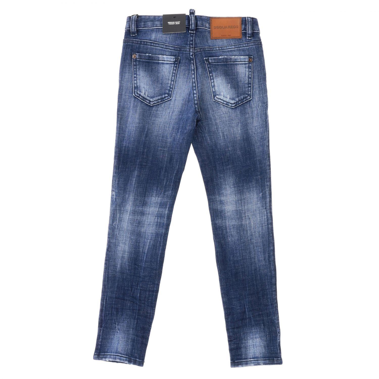 Jeans Dsquared2 Junior en denim usé bleu 2