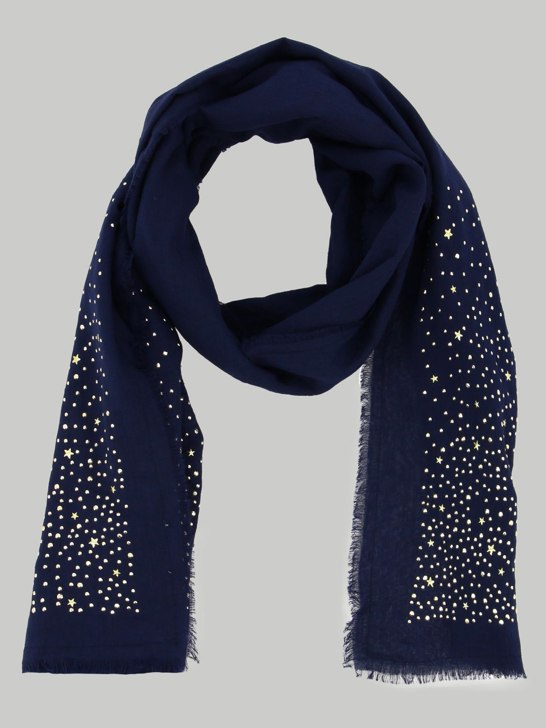 Liu Jo scarf with all-over rhinestones blue 2